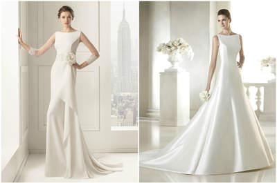 Vestidos de novia con cuello barco 2015: unión de elegancia y distinción