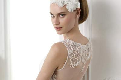 "Les touches ""strass"" des robes de la collection Pronovias 2015"