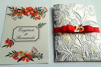 Bonitos convites de casamento intemporais. Para todas as estações do ano!