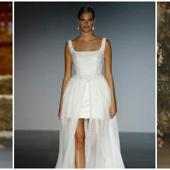 Vestidos de novia para mujeres con mucho pecho 2016 ¡volúmenes elegantes!