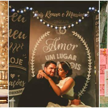 61 backdrops lindos e românticos para as fotos do seu casamento!
