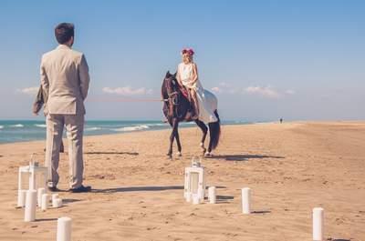 Un mariage sur la plage pour cette inspiration romantique en Camargue