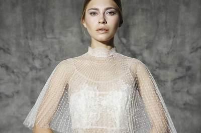 32 vestidos de noiva duas peças 2016: modernos, sofisticados e práticos!