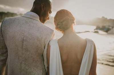 Vestidos de noiva com costas abertas 2016: sensuais mas elegantes