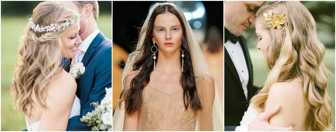 Kennen Sie schon die Brautfrisuren mit offenen Haaren 2017? Triumphieren Sie mit Natürlichkeit