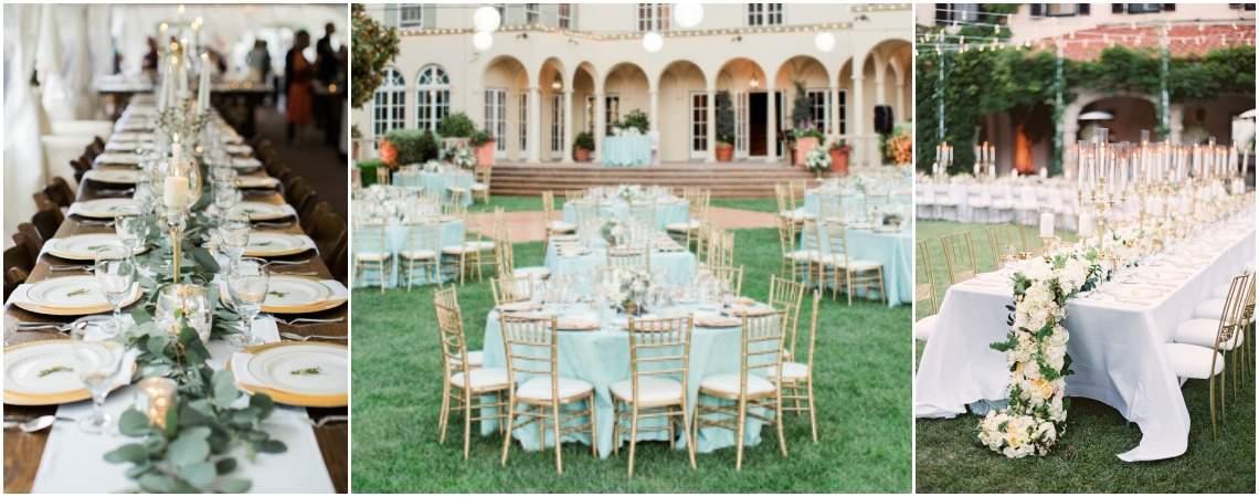 42 tipos de decoración de mesas del banquete 2017, ¿con cuál te quedas?