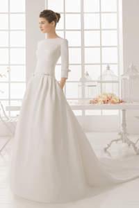 Vestidos de novia 2016 sencillos y con estilo minimalista