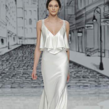 Vestidos de novia con escote en V 2017: La sensualidad se reinventa con estos 75 diseños
