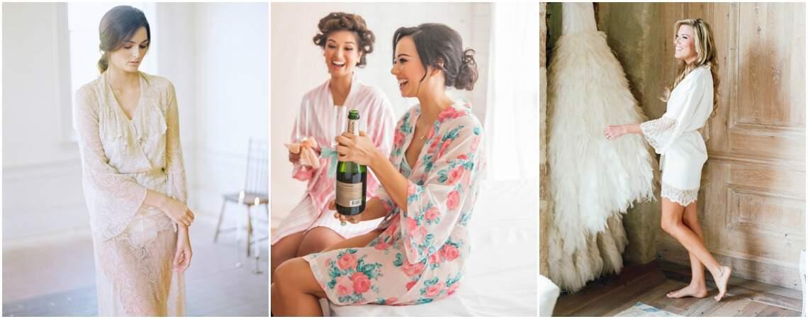 Préparez-vous avec style pour votre mariage en 2016 avec ces jolis peignoirs !