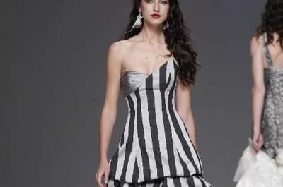 Vestidos de novia blanco y negro 2013