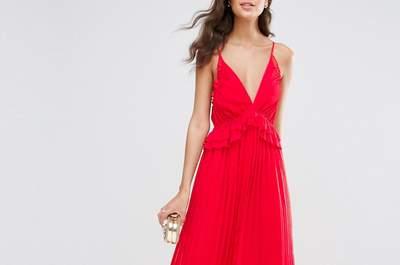Espectaculares 25 vestidos de fiesta rojos largos 2017. ¡Luce sensacional!