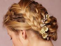 Únete a la moda de los peinados de novia con trenzas 2016