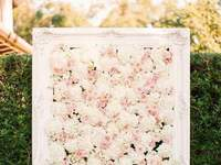 Вертикальный сад на свадьбу