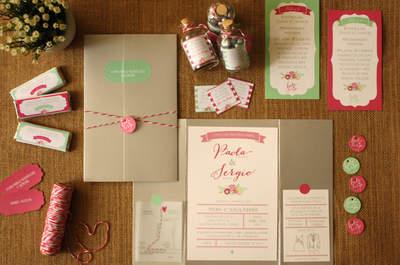 Invitaciones de boda: ¡La tipografía ideal según el estilo de decoración de tu boda!