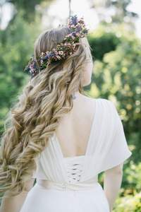 Свадебные венки из цветов 2017