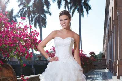 Vestidos de noiva Sweetheart 2015: Lujo y elegancia exótica