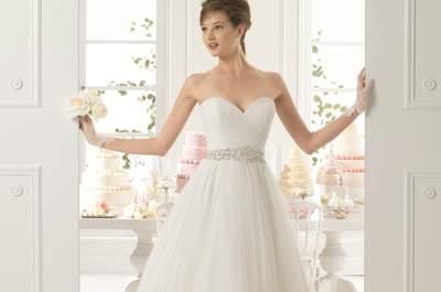 Vestidos de novia midi: La propuesta retro que le dará estilo a tu look