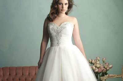 Vestidos de novia para tallas extra: Presume esas curvas
