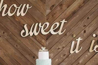 Las 30 mesas de postres más originales para tu boda: ¡Sólo las mejores!