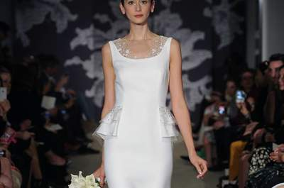Las novias clásicas de Carolina Herrera 2015 en la New York Bridal Week