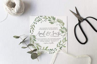 Invitaciones de boda 2017: Tendencias que NO puedes perderte