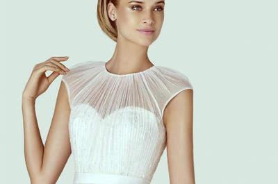 Vestidos con pedrería en la colección Pronovias 2015
