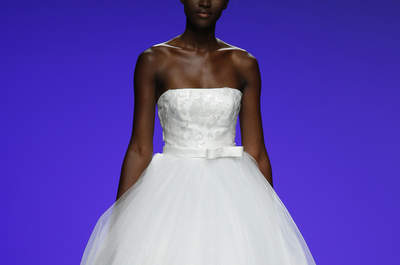 Vestidos de novia con escote palabra de honor para este 2016: ¡prometemos que te fascinarán!