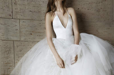 Vestidos de novia con escotes en V 2015: estilo elegante para tu boda