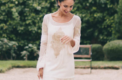 Elige un vestido de novia corte recto 2017 y sorprende a tus invitados