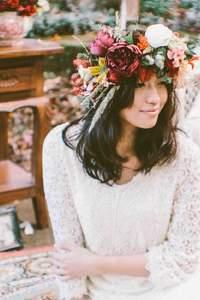 Coronas de flores para novias 2015
