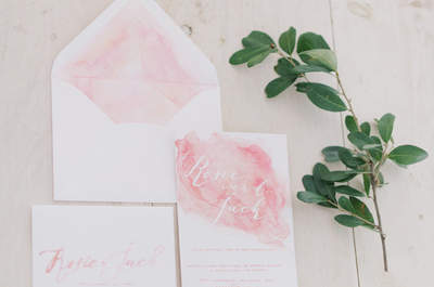 Beautifully Bold Wedding Invitations for 2017: Tantalize Your Guests!