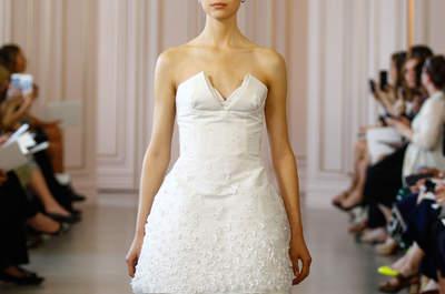 Vestidos de novia cortos 2016: ¡atrévete a usarlos!