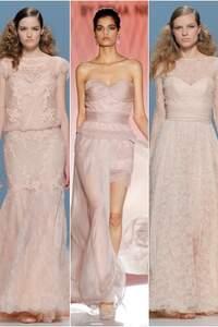 Brautkleider in Rosa 2015