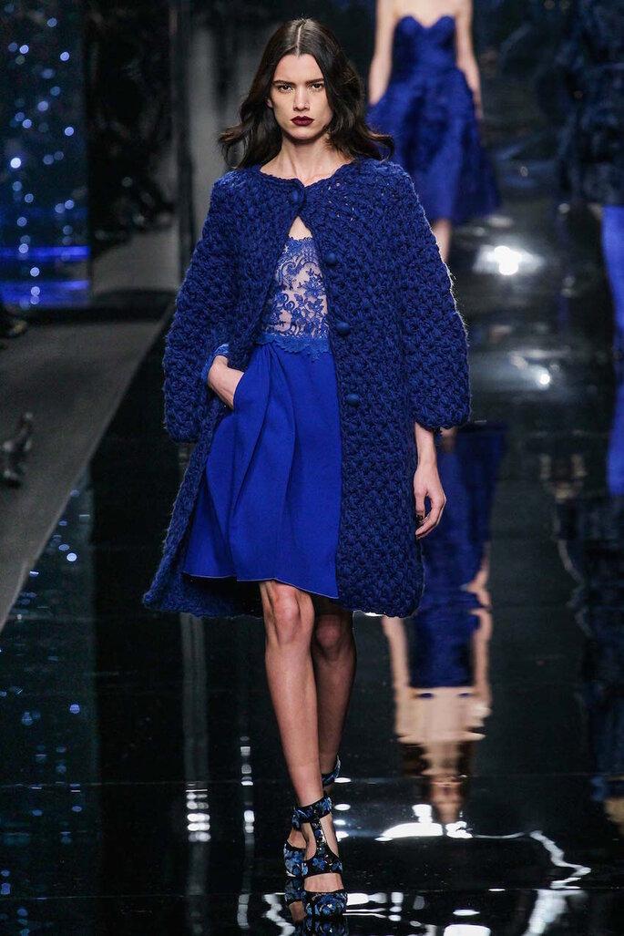 Vestidos de fiesta en color azul klein y marino - Ermanno Scervino Facebook Oficial