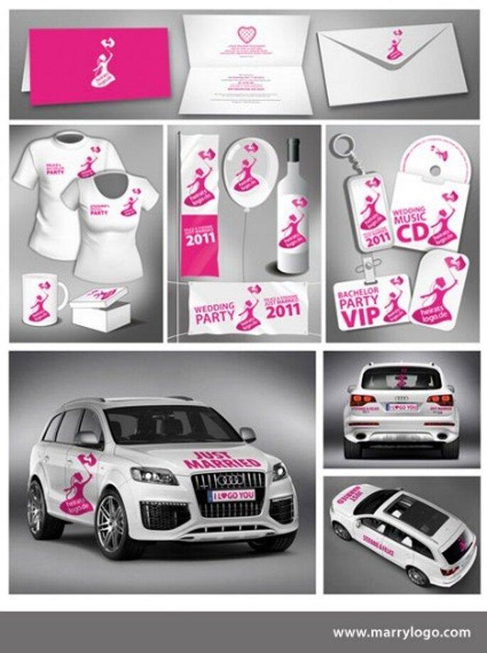 Plasma el logotipo de tu boda en cualquier lugar