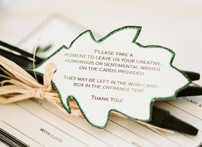 Anima a tus invitados para que te dejen lindos mensajes de ánimo y amor - Foto Jen Lynne