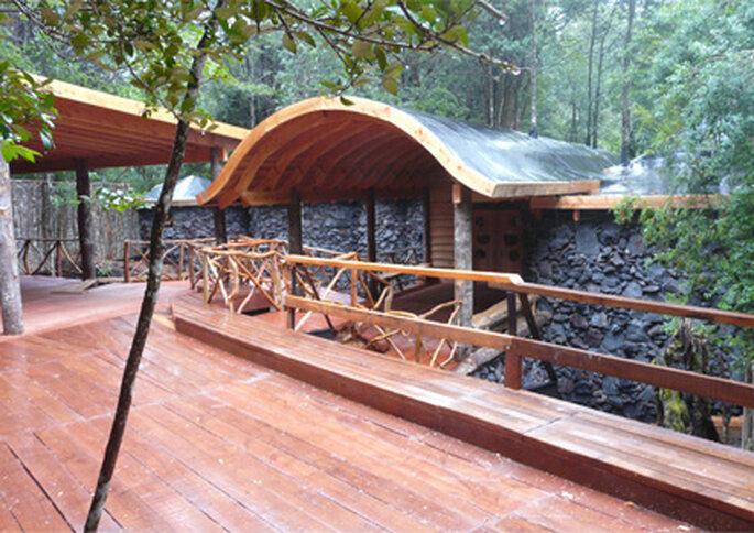 La reserva Huilo Huilo es el lugar ideal para escaparse de la ciudad durante la luna de miel.