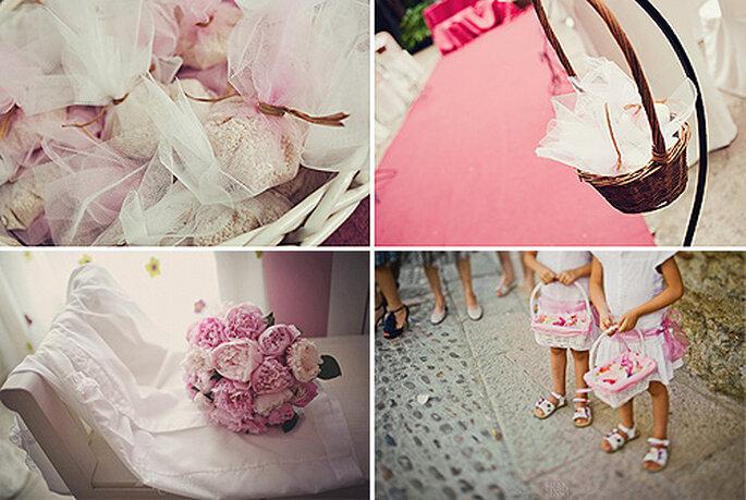 Una boda en color rosa. Imágenes: Chema Andreu y Fran Russo