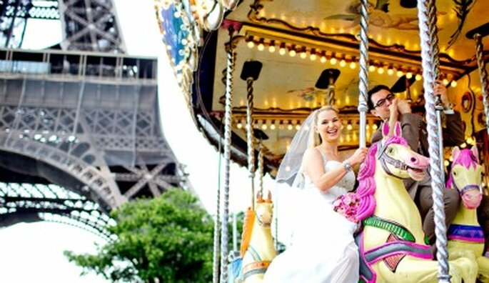 Für Romantiker: Heiraten in Paris. Foto: Katja Schünemann. www.ks-weddings.de
