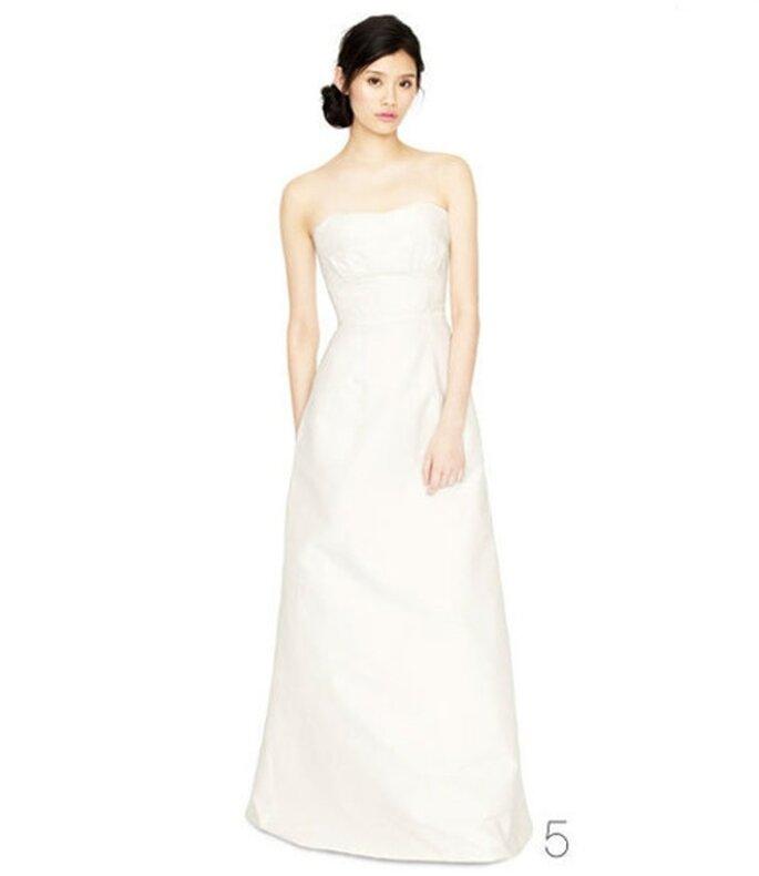 Vestido de novia con un corset de pliegues - Foto: JCrew Wedding Collection 2012