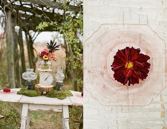 Centros de mesa para boda. Foto de Alea Lovely.