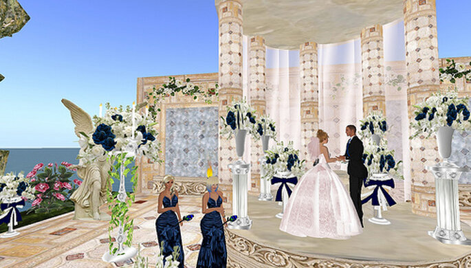 Boda por internet en second life