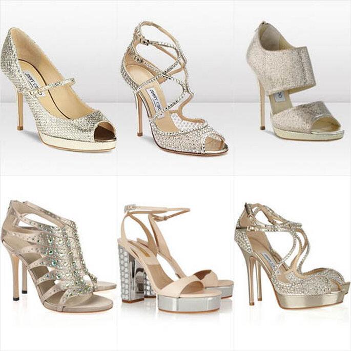 Festliche Schuhe für die Hochzeitsgäste von Ann Taylor, Tiffany, Michael Kors, Jummy Shoe y Gucci.