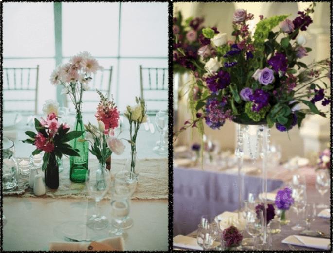 Decoración de boda con flor lisianthus - Foto Erika Delgado y Jonas Peterson