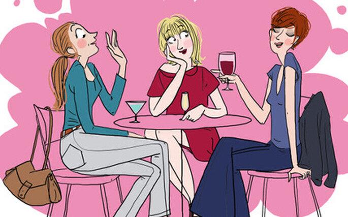 Un petit verre entre copines, by Margaux Motin
