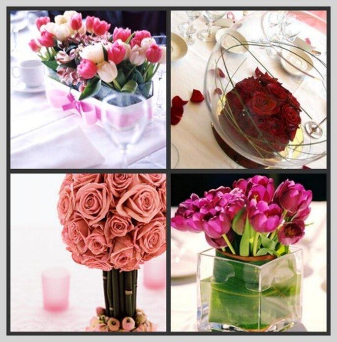 Centres de table fleuris