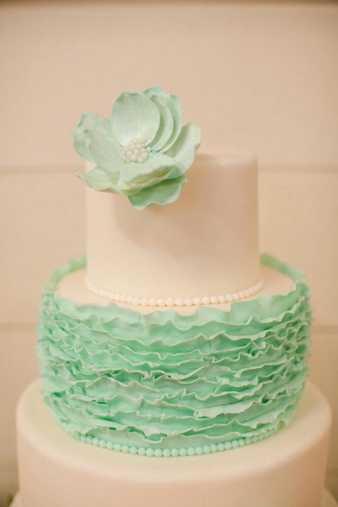 decoración de bodas en color menta - Katelyn James Photography