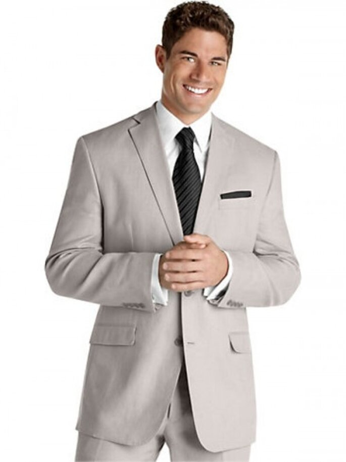 Traje de lino Calvin Klein color gris, $599.99USD
