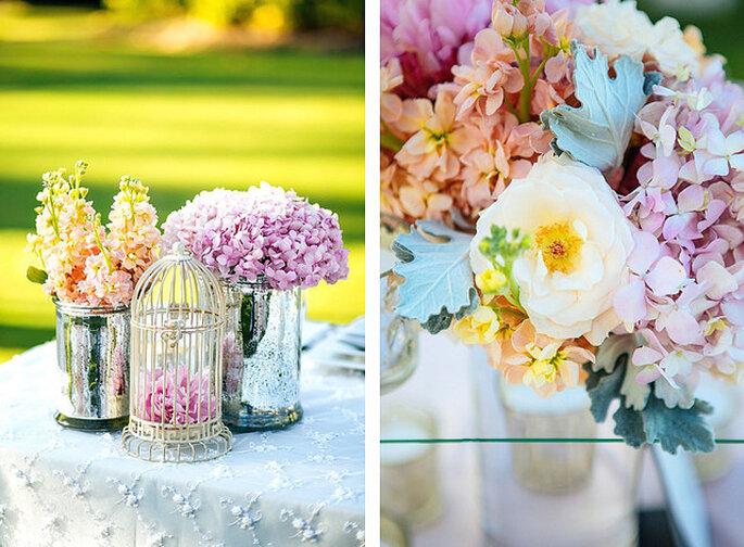 Flores en colores pasteles. Foto: Closer to Love Photographs