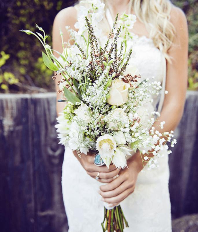 Bouquet de mariée avec des feuillages pour 2013 - Photo Michelle Gardella